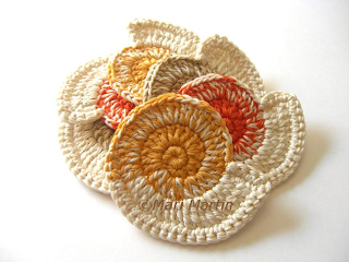 Crochet Coasters Nautilus Shell