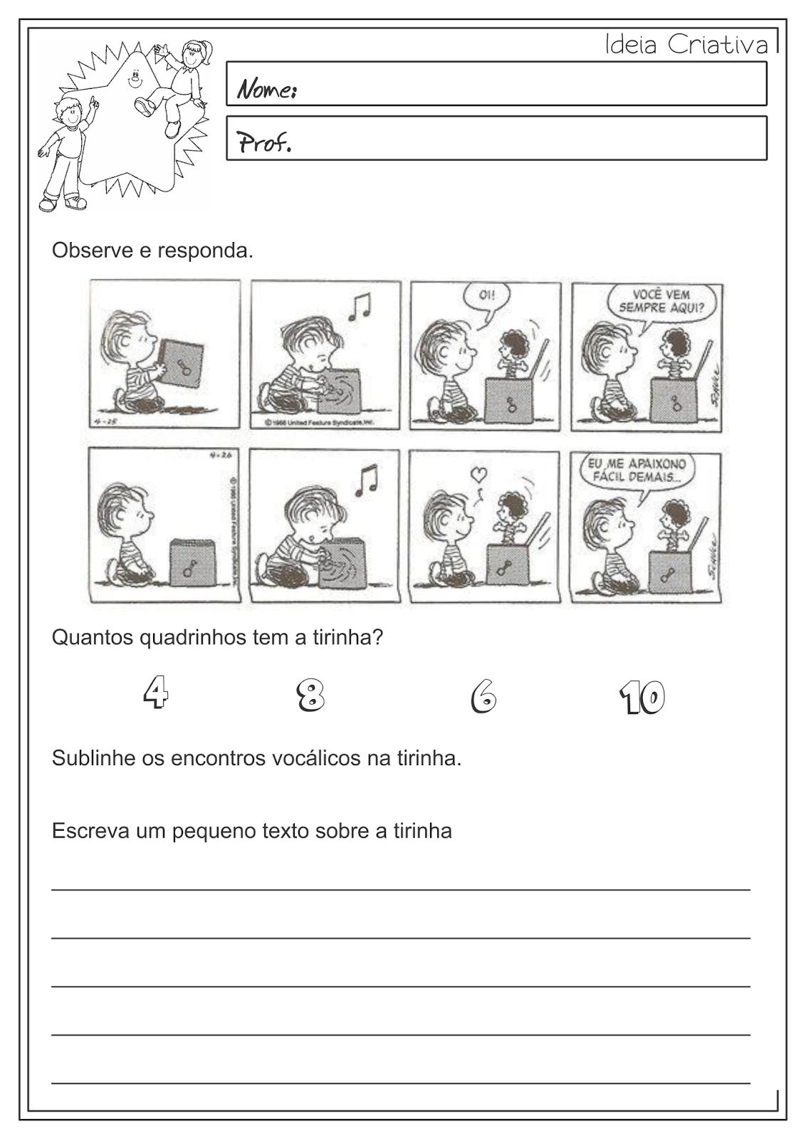 Atividades Educativas Produção de Texto Língua Portuguesa 3° ano Fundamental