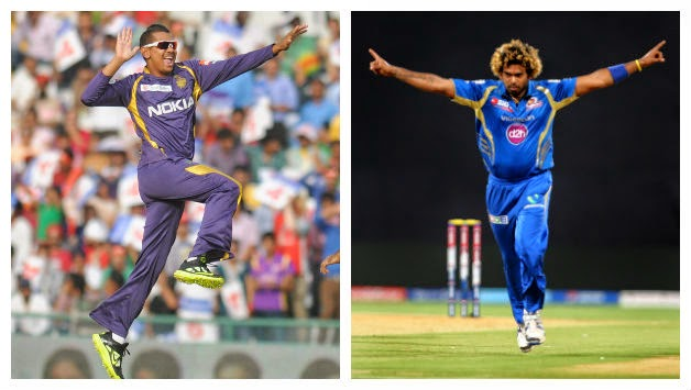 Sunil Narine and Malinga took 4 wickets