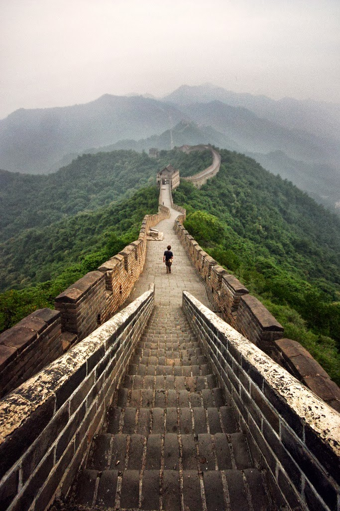 Great Wall of China at dawn