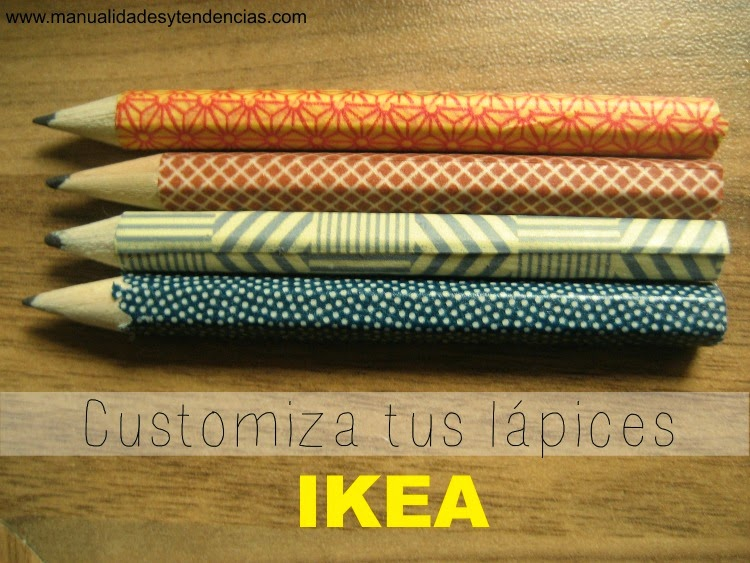 lápices de Ikea customizados