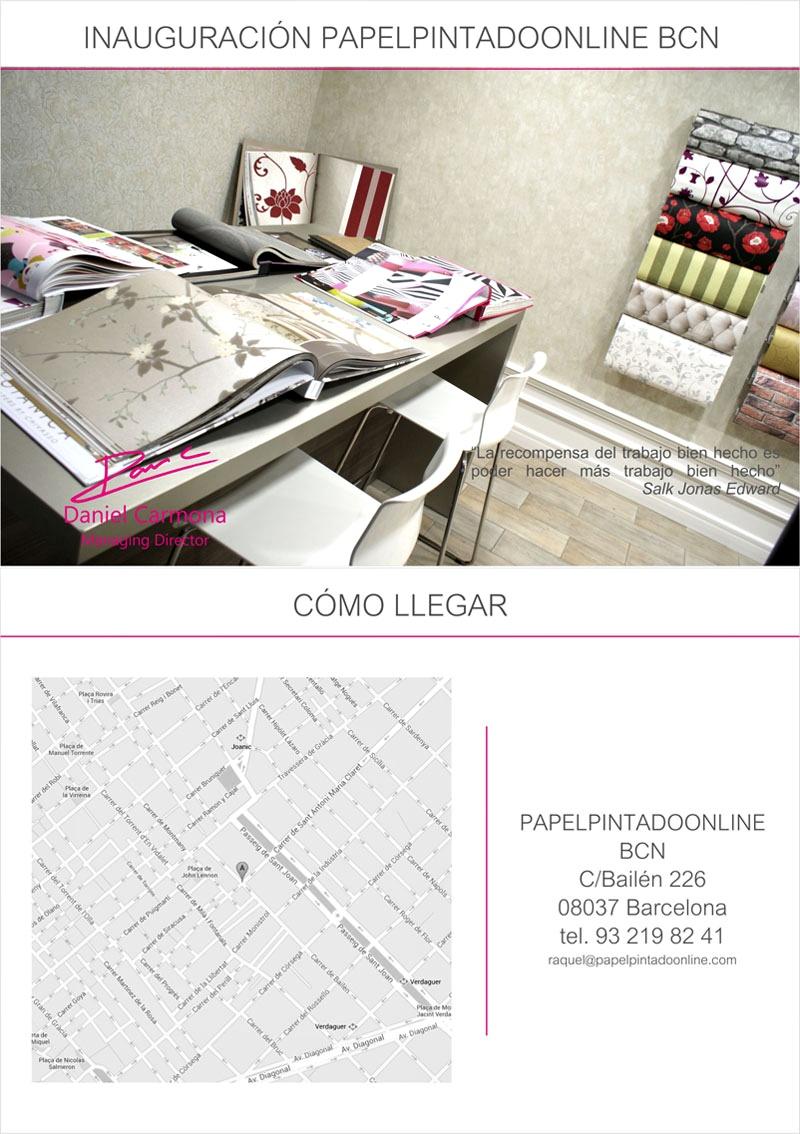 Papel pintado inauguraci n papel pintado online barcelona - Papel pintado online ...