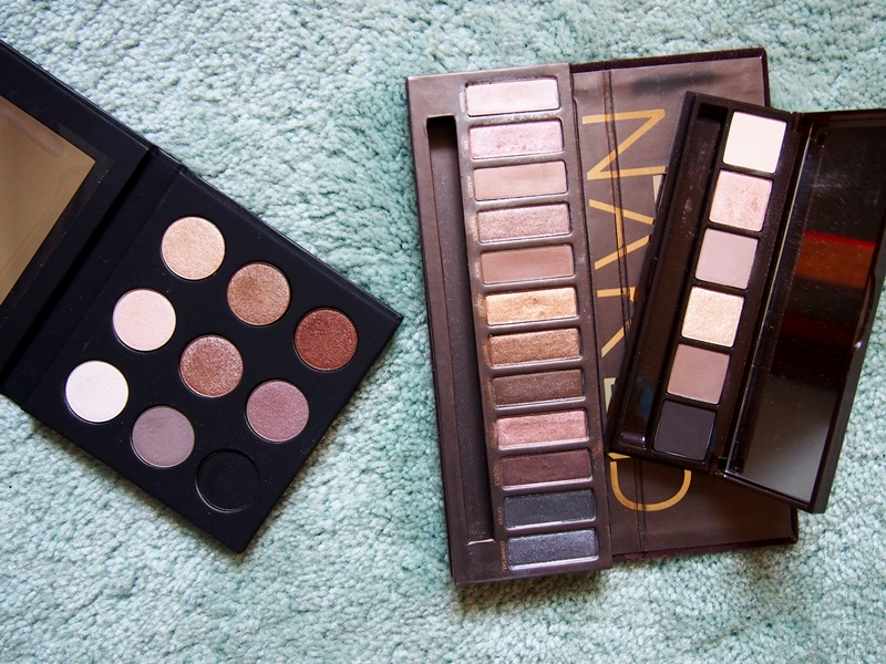 make up for ever artist palette volume 1 - nude, urban decay naked palette, bobbi brown warm eye palette