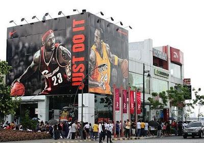 Nike Store Billboard - Fort Bonifacio