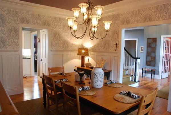 contoh wallpaper ruang makan