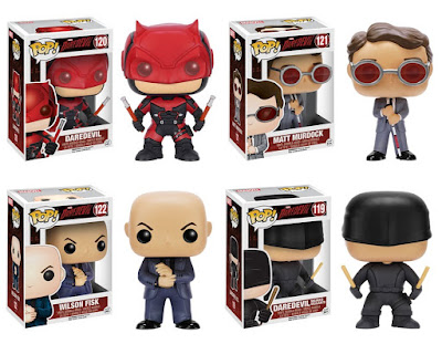 "Marvel's Daredevil Television Series Pop! Vinyl Figure Series 1 by Funko - Daredevil, Matt Murdock, ""The Kingpin"" Wilson Fisk & ""Masked Vigilante"" Daredevil"