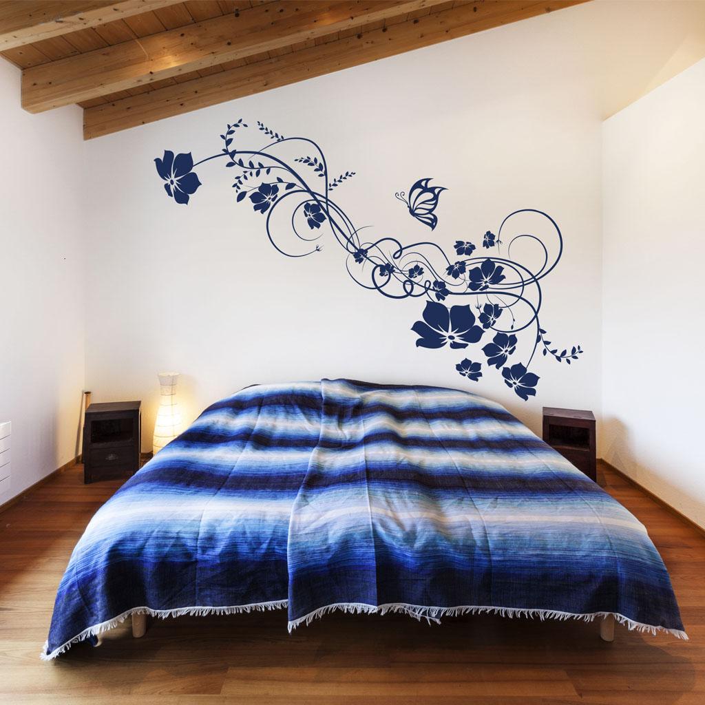 Papel pintado vinilos decorativos florales for Vinilos decorativos para entradas