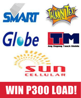 win p300 load from globe smart sun or any network love