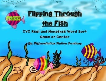 http://www.teacherspayteachers.com/Product/Flipping-Through-The-Fish-Sorting-CVC-Words-Real-and-Nonsense-1240653