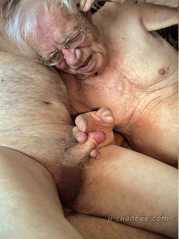 Old woman and young man have sex naked