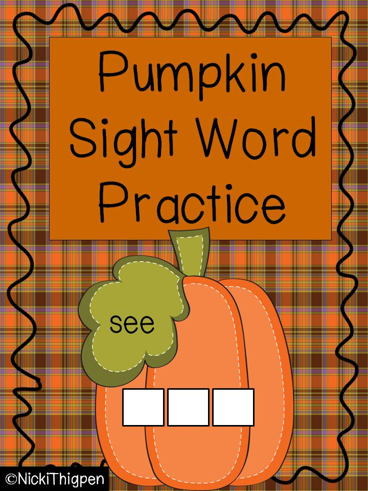 http://www.teacherspayteachers.com/Product/Pumpkin-Build-a-Sight-Word-335472