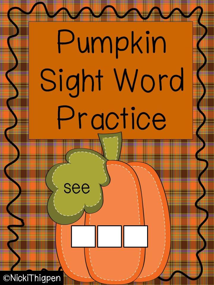 http://www.teacherspayteachers.com/Product/Pumpkin-Build-a-Sight-Word-335472