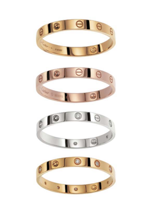 The Love Bracelet Styled L Ve With Horizontal Line Inside Letter O Alluding To S Locking Mechanism Is A Famous Piece Of Jewelry