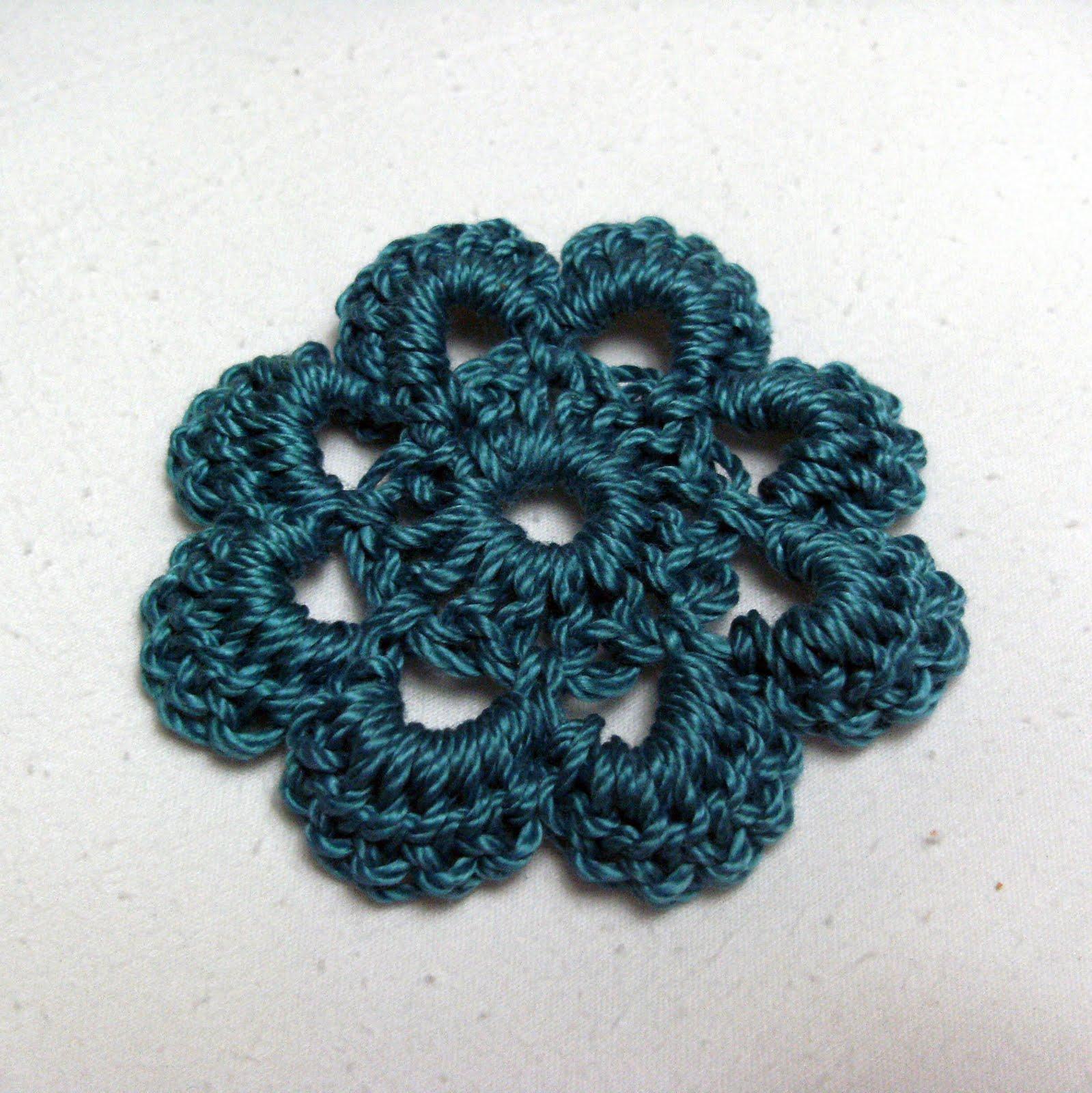 Crochet Outline Stitch : crochet flower stitches