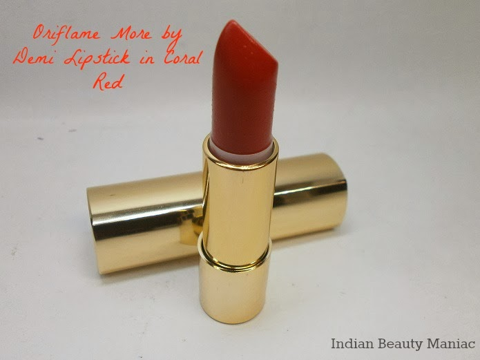 Oriflame More by Demi Lipstick in Coral Red bullet