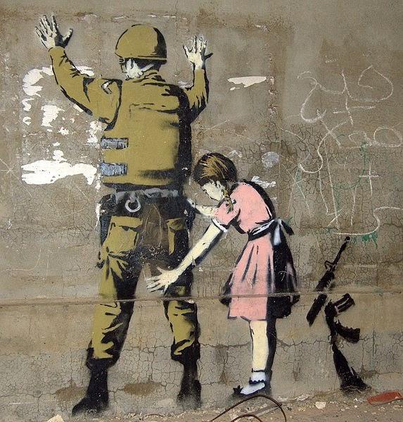 http://commons.wikimedia.org/wiki/File:Bethlehem_Wall_Graffiti_1.jpg