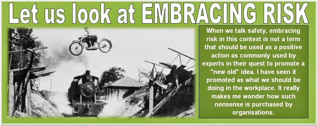 Let us look at EMBRACING RISK