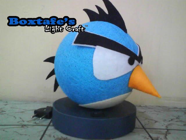 Lampu Tidur Benang Angry Bird Biru