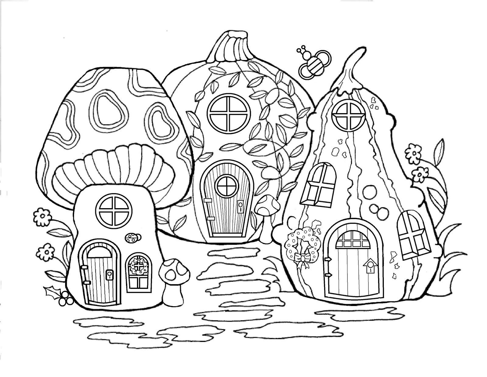 fairy tree house coloring pages Let It Shine: Fairy Merry Christmas   Day13 fairy tree house coloring pages