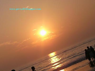 Sun in the beach of Cox's Bazar,Bangladesh