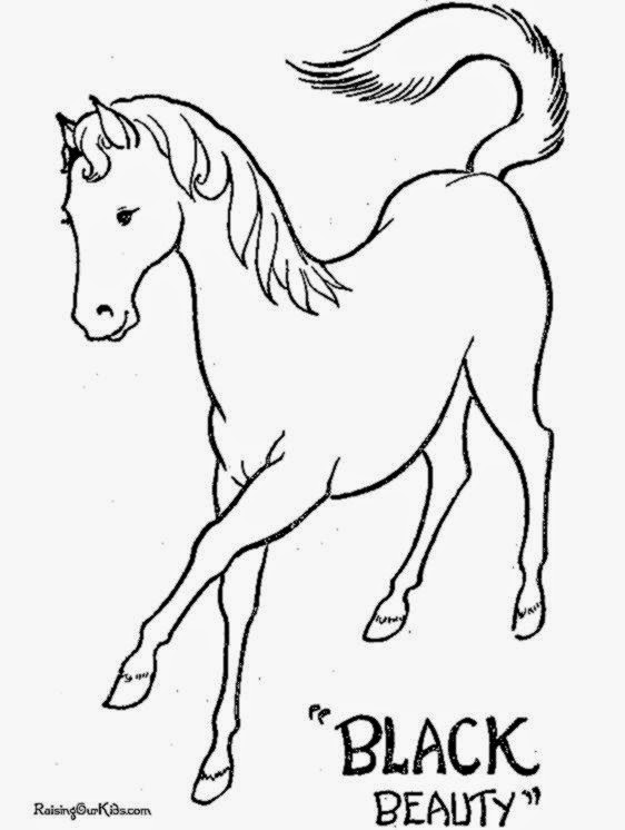 horse pictures to color and print free coloring pictures