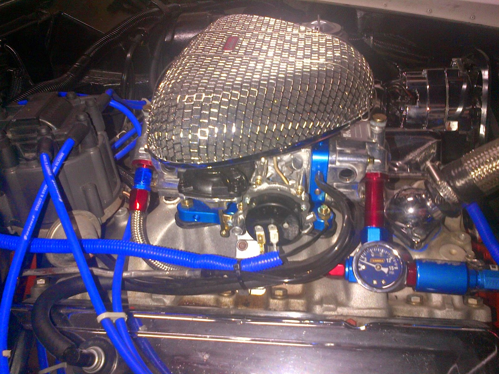 The carb is a Holley 750 cfm street avenger with blue fuel blocks to match the theme in the engine bay. The carb comes with rubber fuel lines as a kit to ... & Andersen Corvette Racing: Army Navy Fuel Line