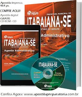 Apostila Impressa Prefeitura de Itabaiana Agente administrativo