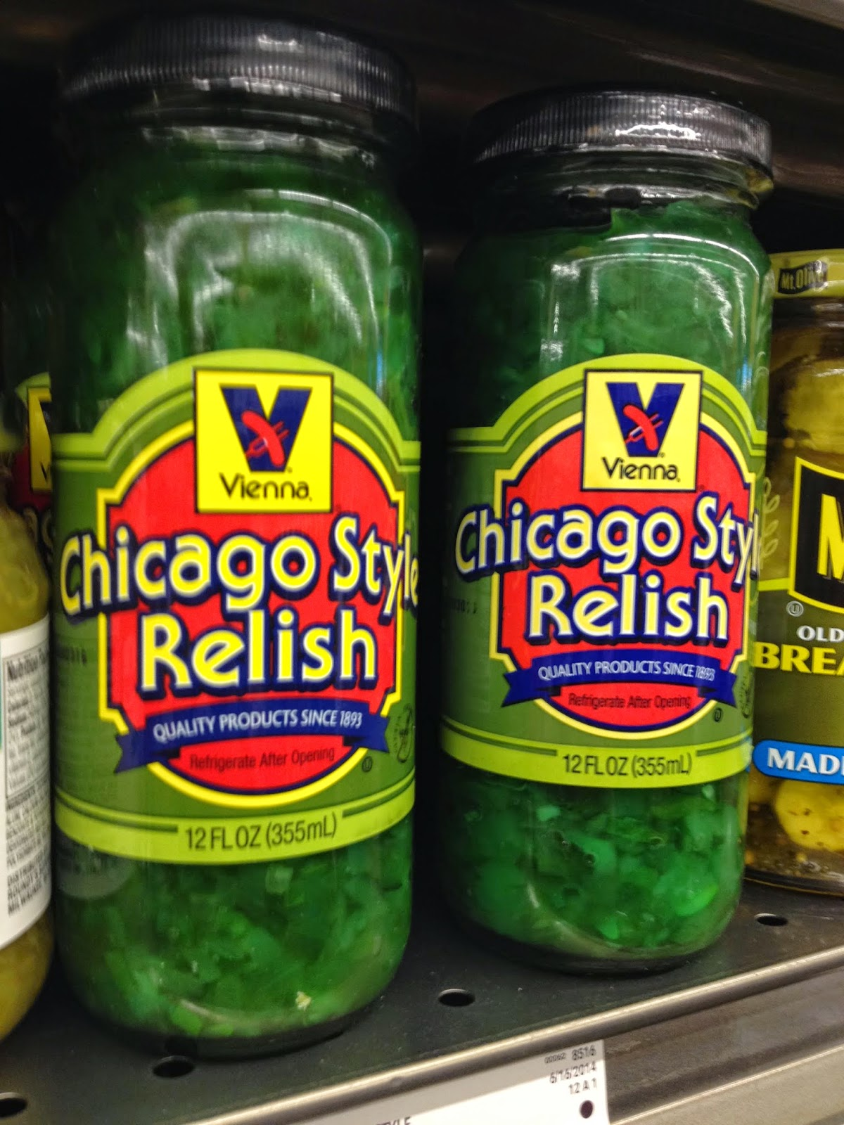 Chicago Style relish