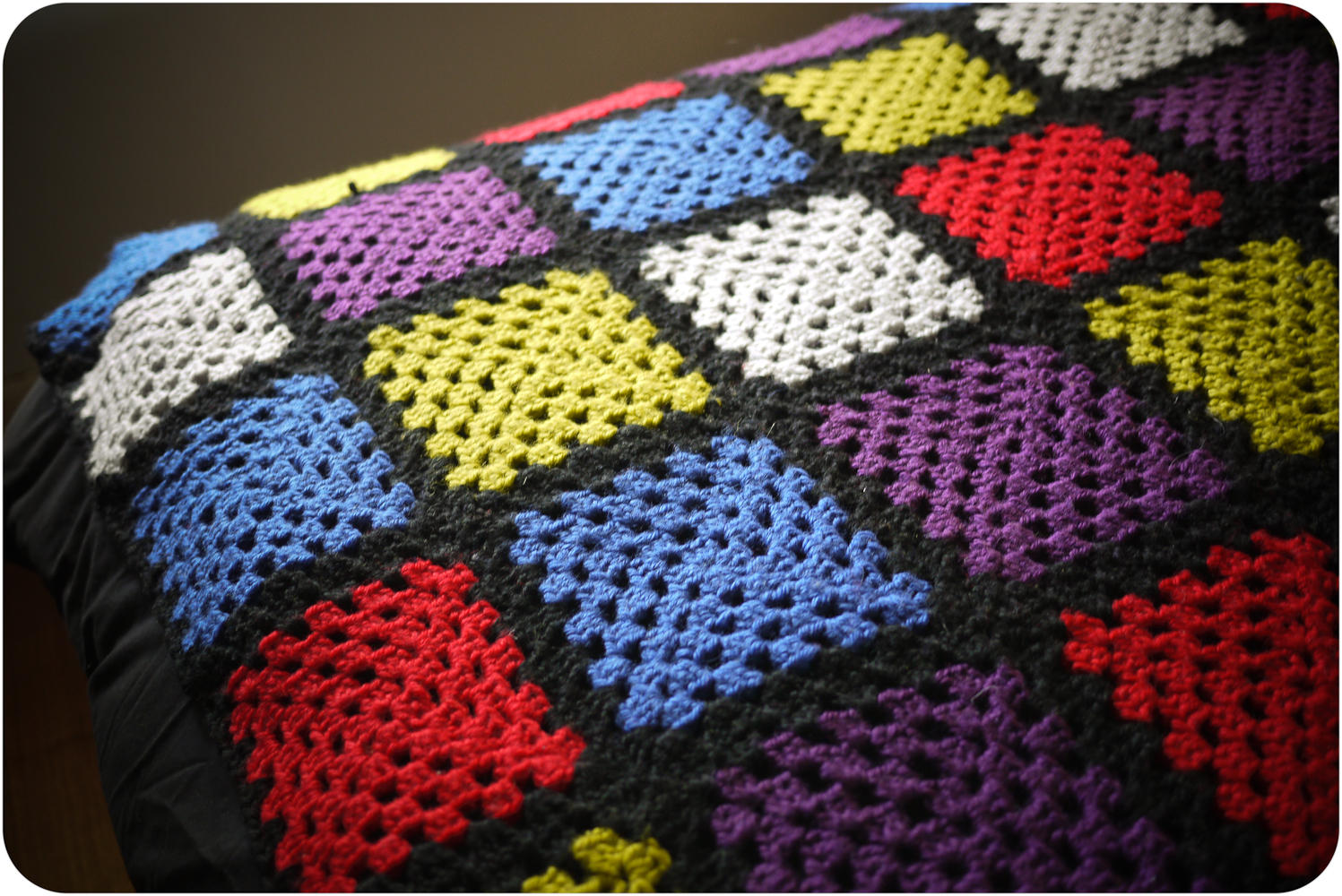Crocheting Granny Square Blanket : ... watch, but 90 Granny Squares later heres my darling crochet blanket