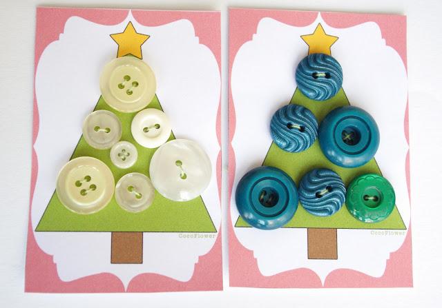 #sapin de #Noël #bouton #vert #blanc #vintage plastique www.CocoFlower.net