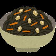 ひじきの煮物のイラスト