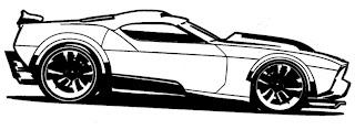 Desenhos do Hot Wheels para imprimir e pintar