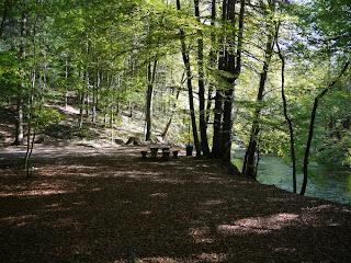 Rastplatz an der Würm zwischen Gauting und Karlsberg unterhalb des Schlossbergs