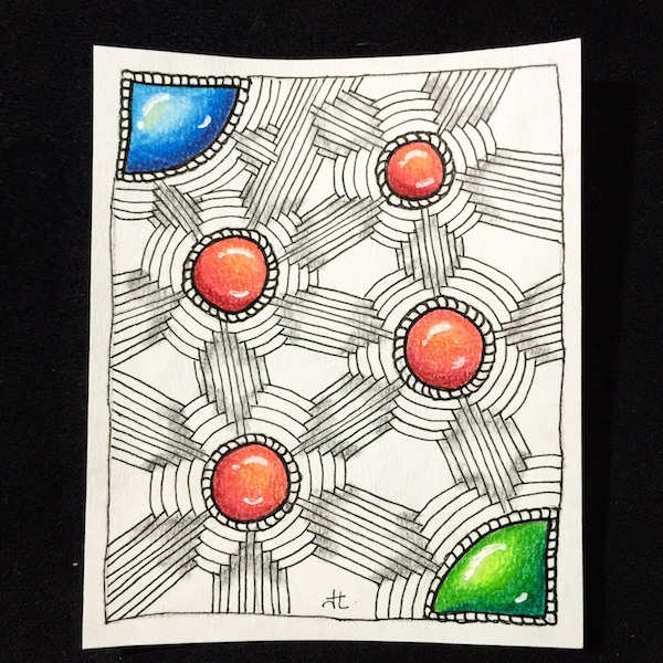 jewel jem gem Zentangle