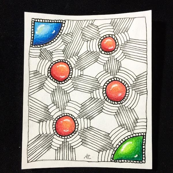 jewel jem gem Zentangle