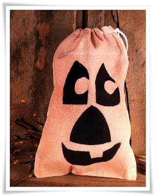 Primitive Fall Pumpkin Muslin Bags