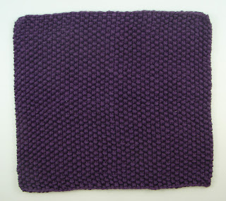 knit washcloth purple seed stitch