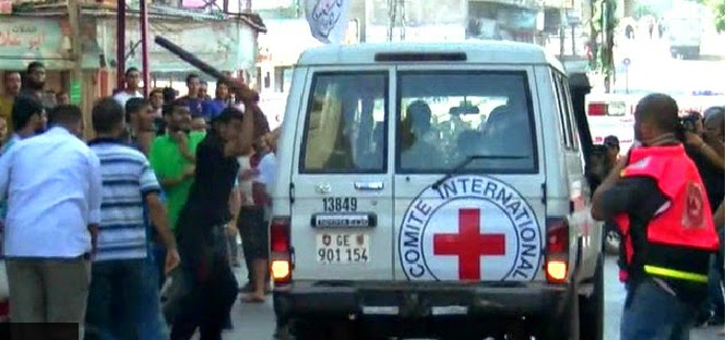Red Cross mission attacked by civilians in Gaza