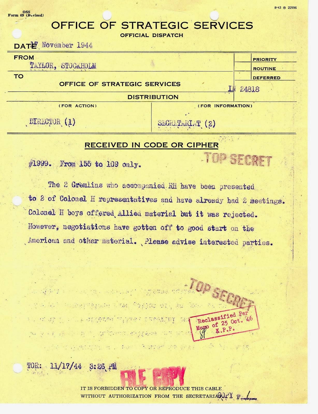 office of strategic services essay Office of strategic services: office of strategic services (oss), agency of the us federal government (1942–45) formed for the purpose of obtaining information.