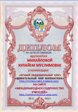 Награда блога