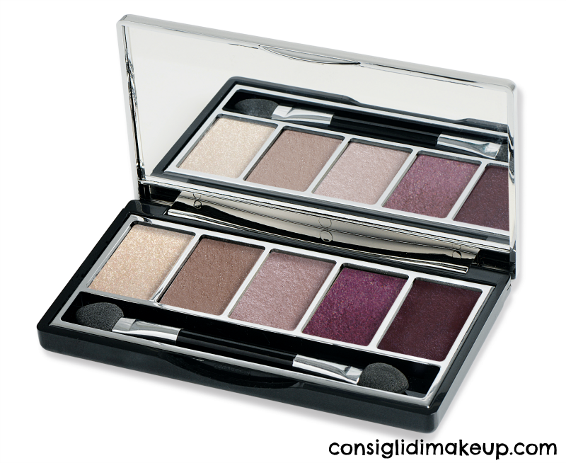 vamp palette pupa milano 001 glam mauve gold edition