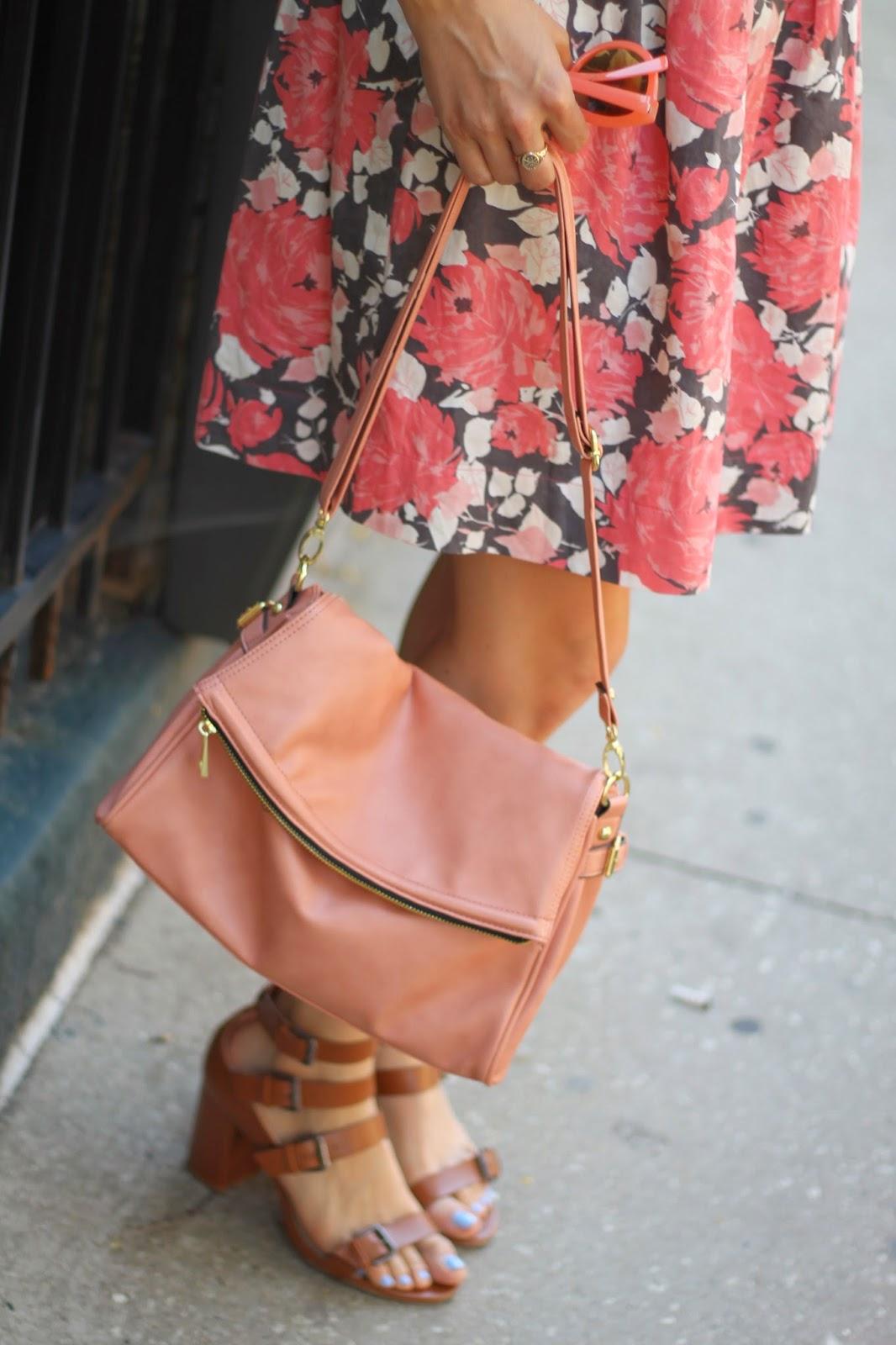 dsw, handbag, blush
