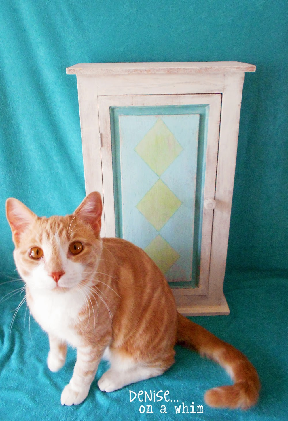 A Cabinet Redo with a Cat Photo Bomb via http://deniseonawhim.blogspot.com