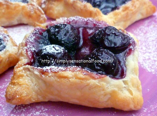 Black cherry tarts