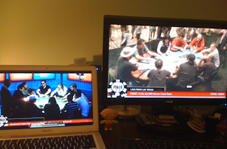 Multi-tabling the WSOP live streams