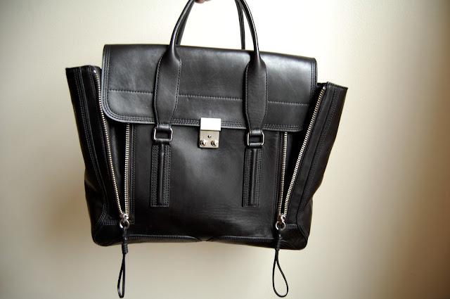 3.1 phillip lim pashli satchel black silver hardware