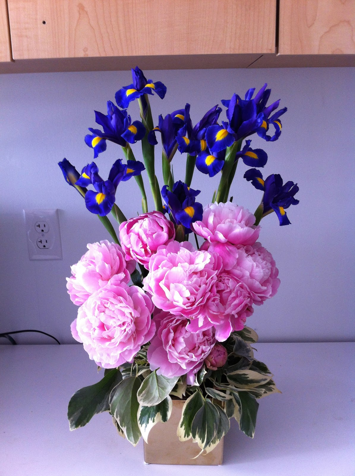 Chic Floral Designs Iris Peony Arrangement