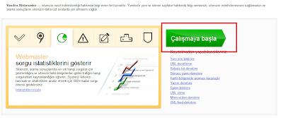 Yandex Webmaster Paneli