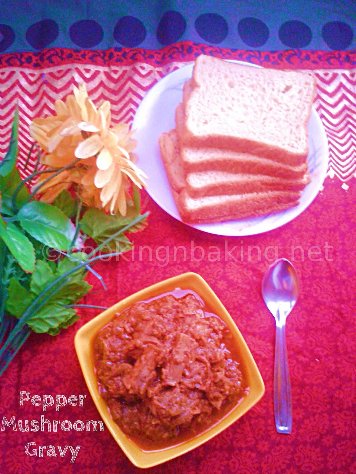 "Pepper Mushroom Gravy | Cooking ""N"" Baking"