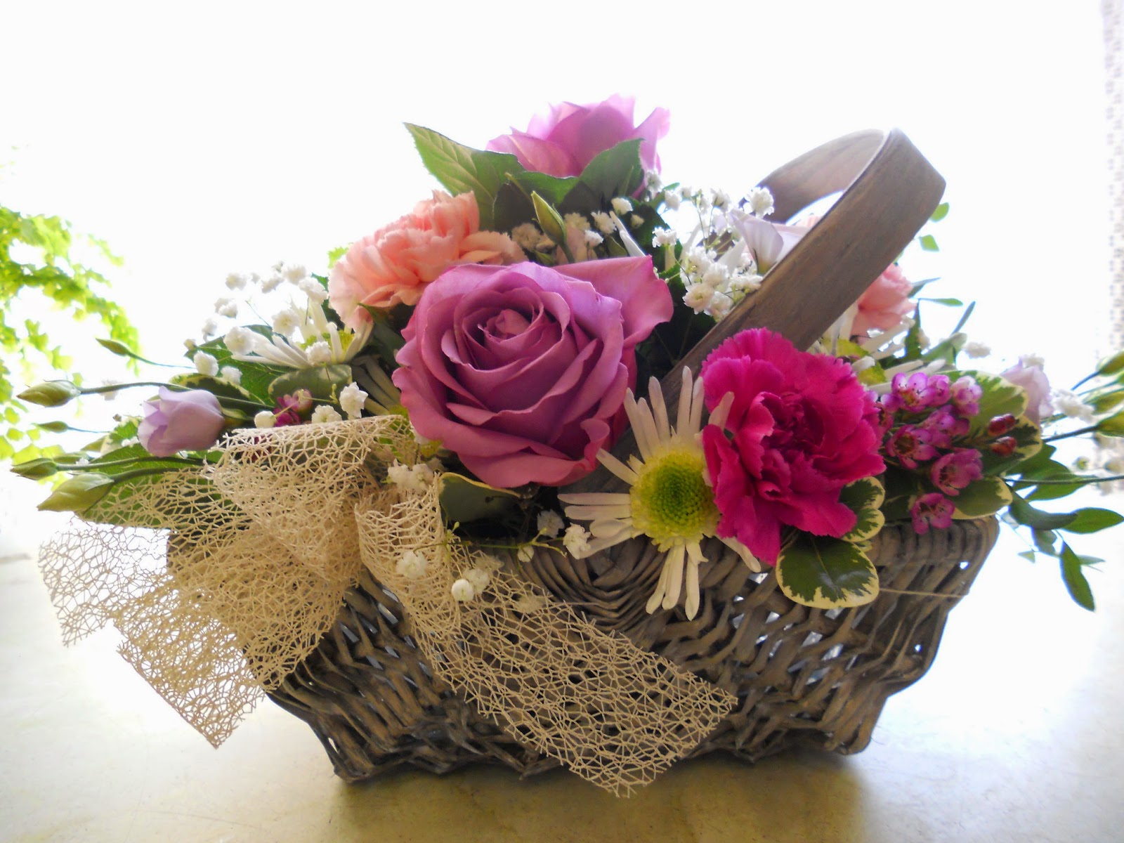 Flower Baskets Photos : Beautiful flower wallpapers for you flowers basket wallpaper